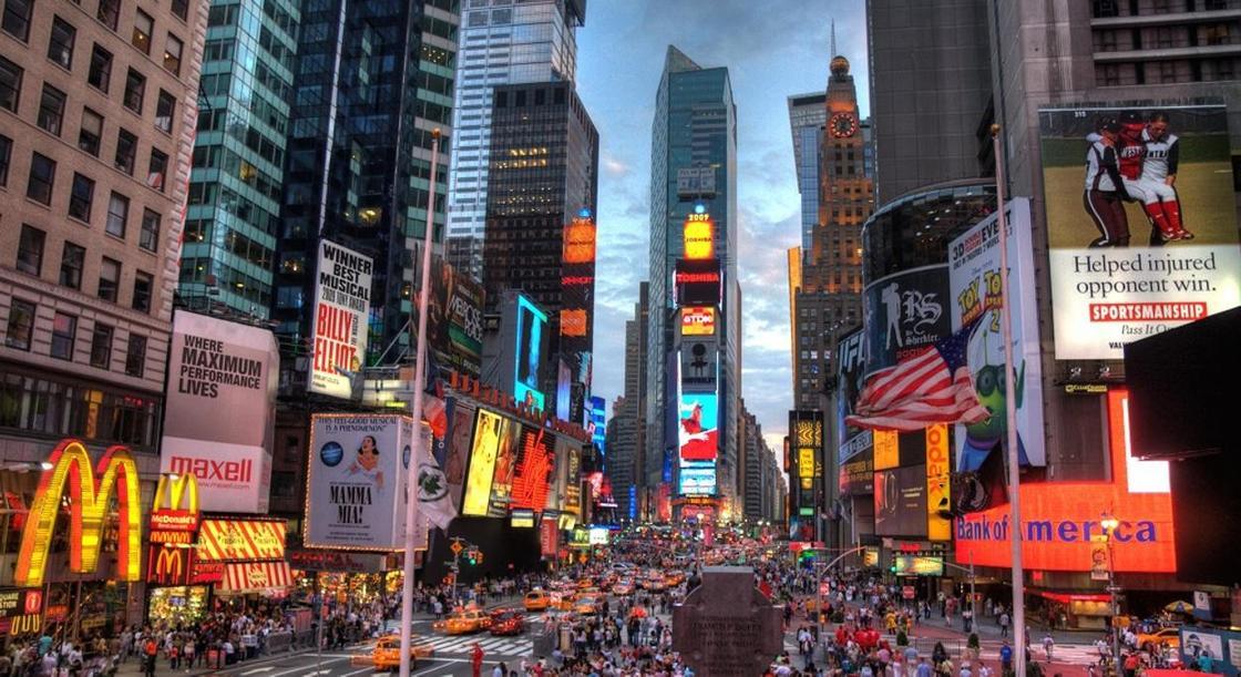 Ролик о Казахстане транслируют на Таймс сквер в Нью-Йорке