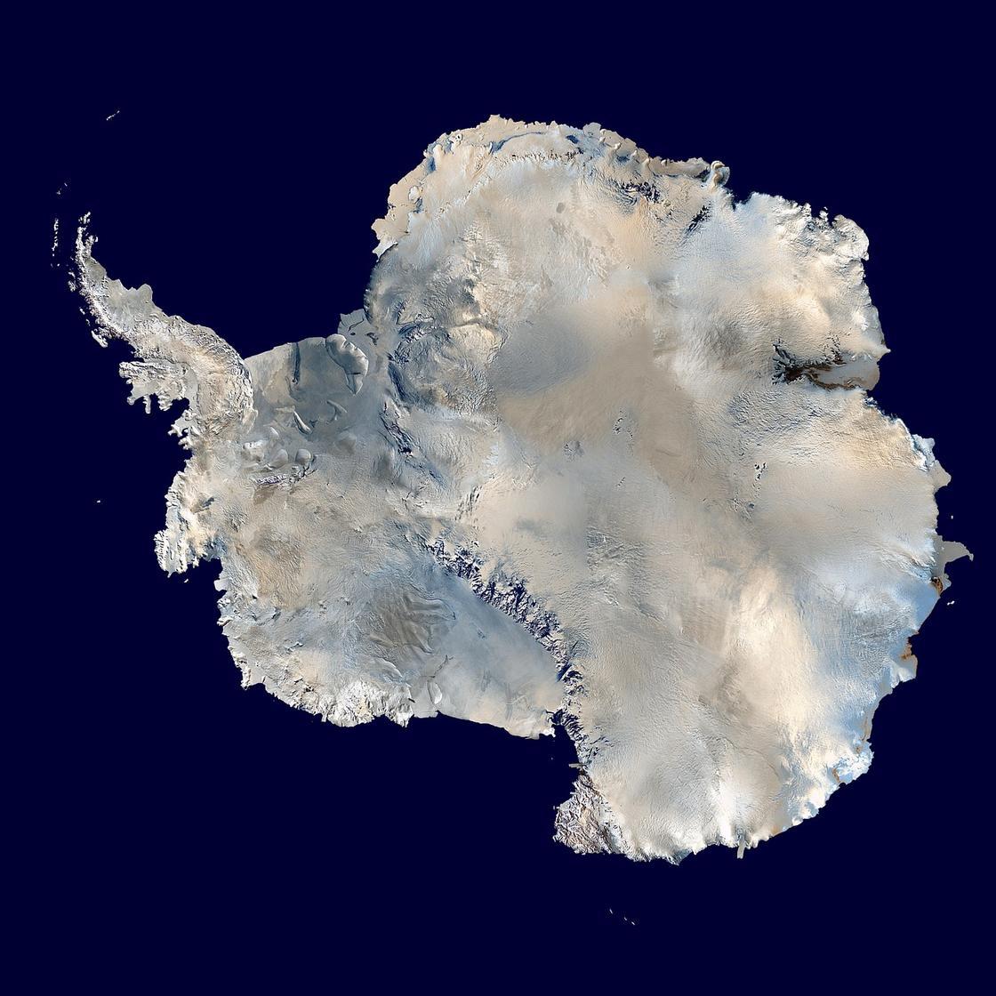 карта Антарктида