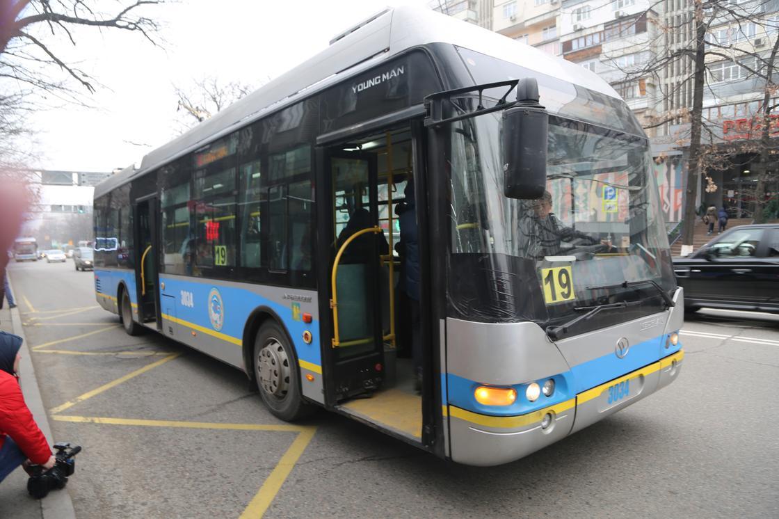 Общественный транспорт не будет ездить в выходные в Алматы