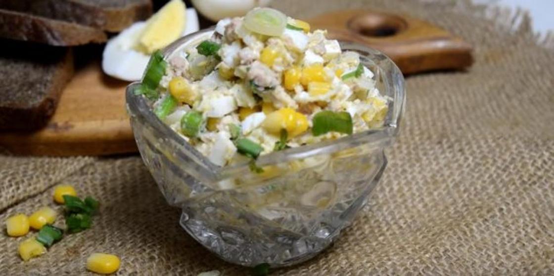 Салаты с кукурузой консервированной: варианты