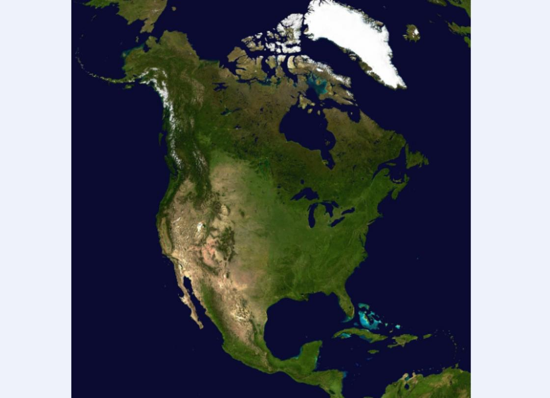 карта Северная Америка