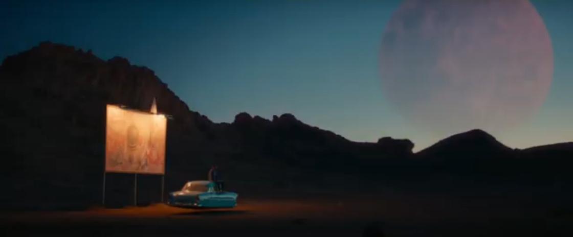 Красная Луна на небе. Кадр из фильма «Последний день Земли»