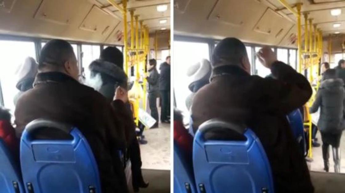 Бросил окурок в пассажирку: мужчину, курившего сигарету в автобусе, нашли в Алматы
