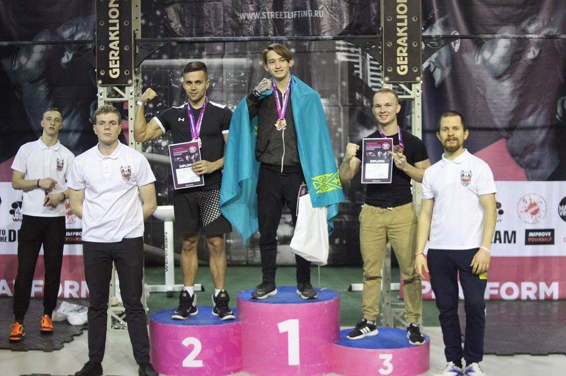 Спортсмены из Кокшетау стали чемпионами Европы по стритлифтингу