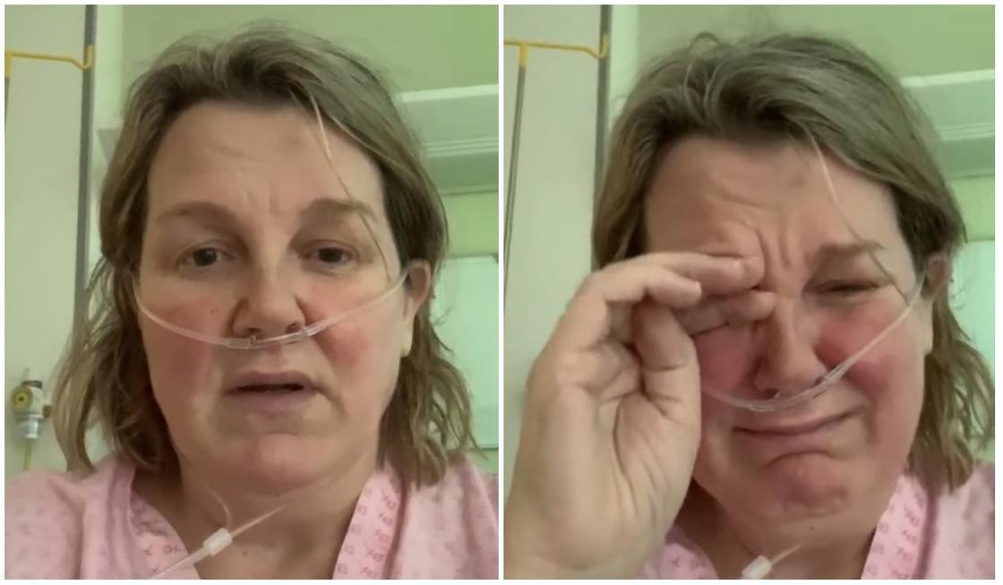 Зараженная коронавирусом со слезами на глазах поведала о страшных последствиях болезни (видео)