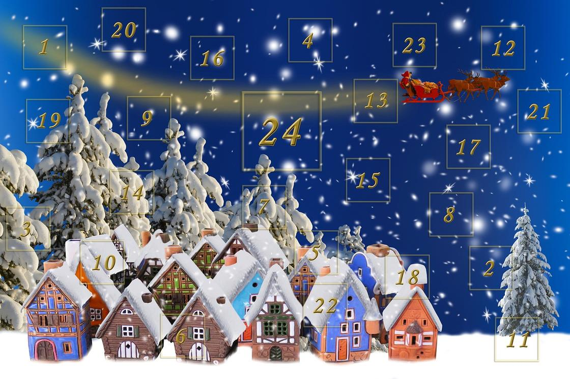 Домики, числа, календарь