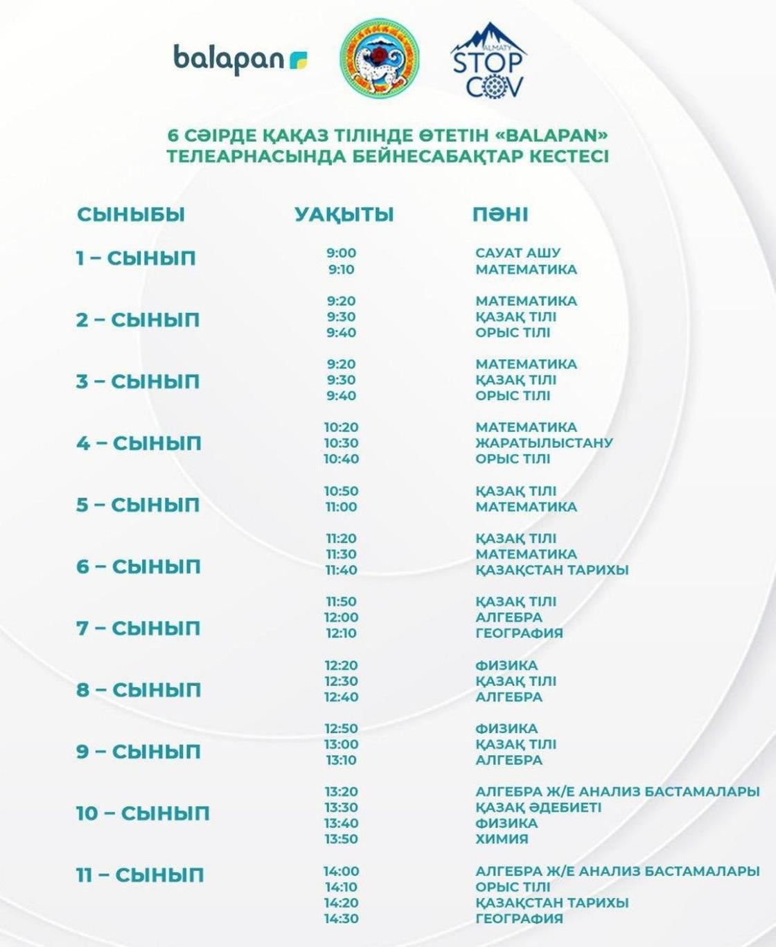 Стало известно расписание телеуроков для школьников на 6 апреля