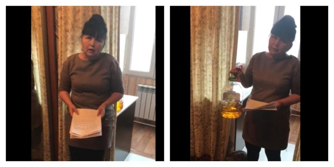 Главная бунтарка страны угрожает сжечь себя перед Генеральной прокуратурой Казахстана (видео)