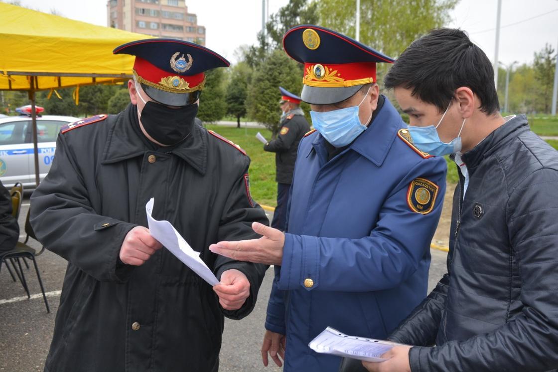 Соблюдение режима карантина в Жамбылской области контролирует лично начальник полиции