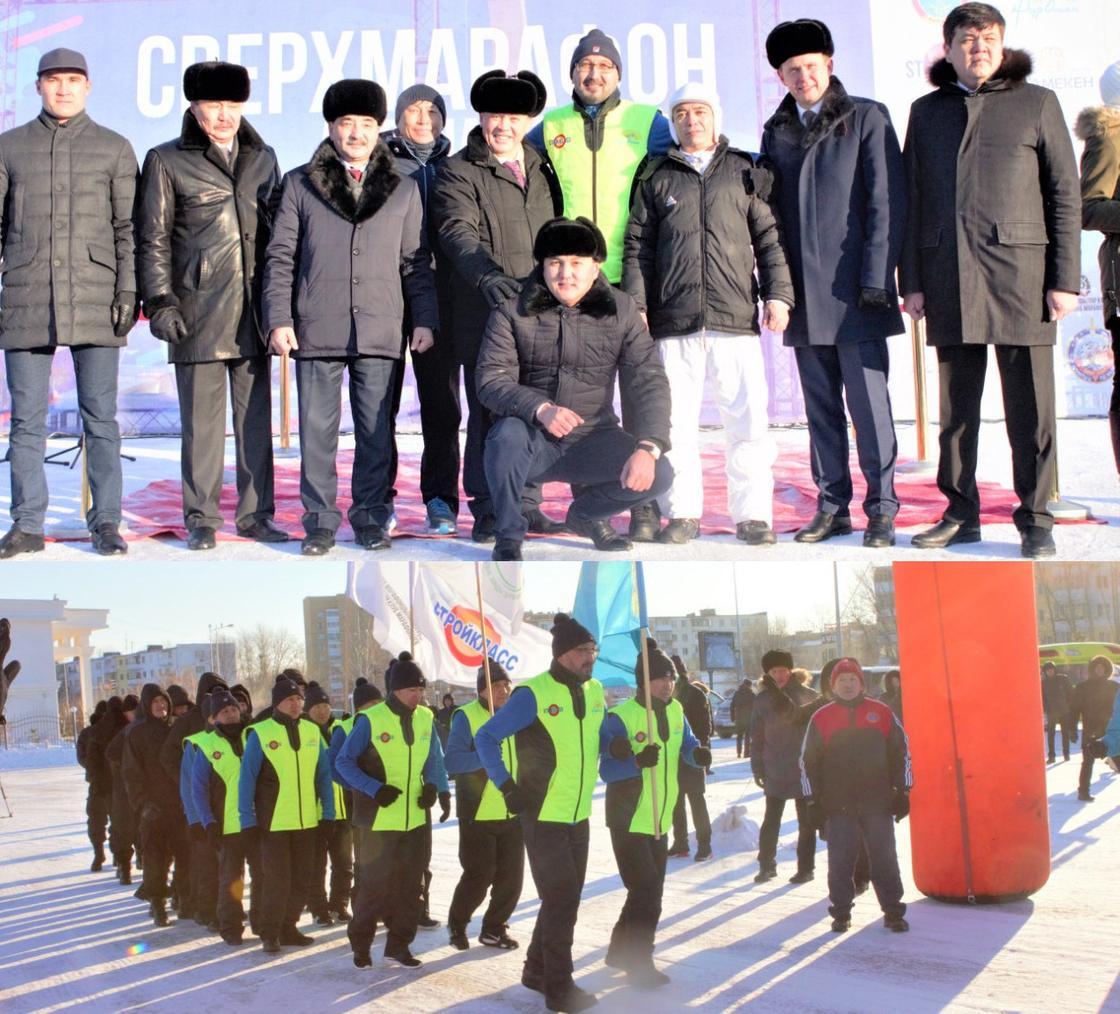 Сверхлюди пробежали из Астаны в Алматы