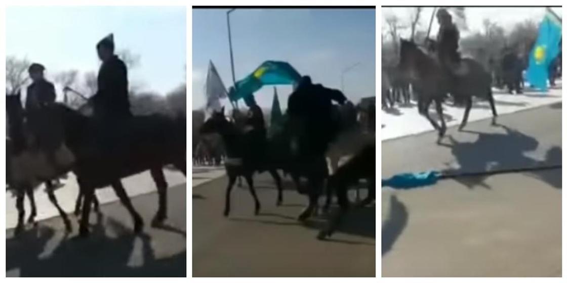 Ақтауда Наурызды тойлау кезінде ат бірнеше адамды таптап кетті (видео)