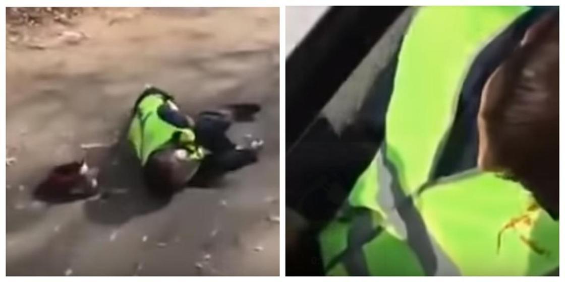 """Желіде Нұр-Сұлтанда """"өлтірілген"""" полицейлердің видеосы тарауда"""