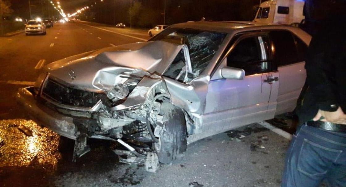 Нетрезвый водитель устроил массовое ДТП в Алматы