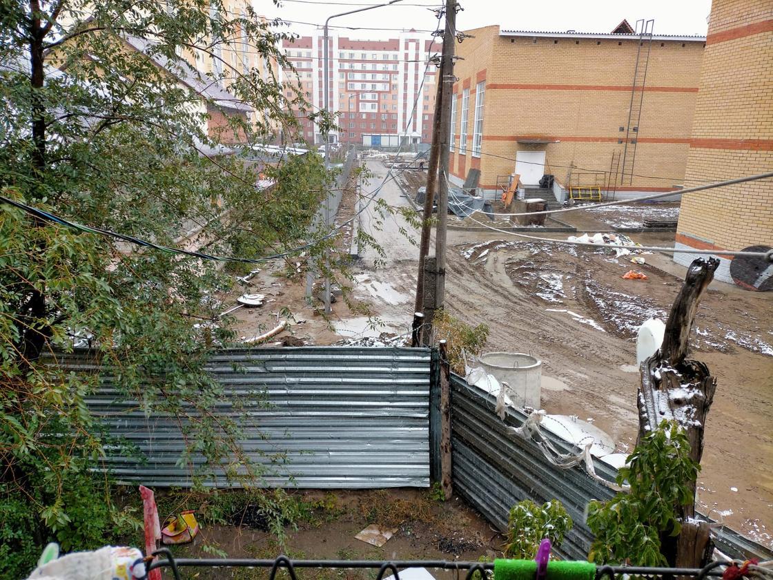 Стройка в Павлодаре