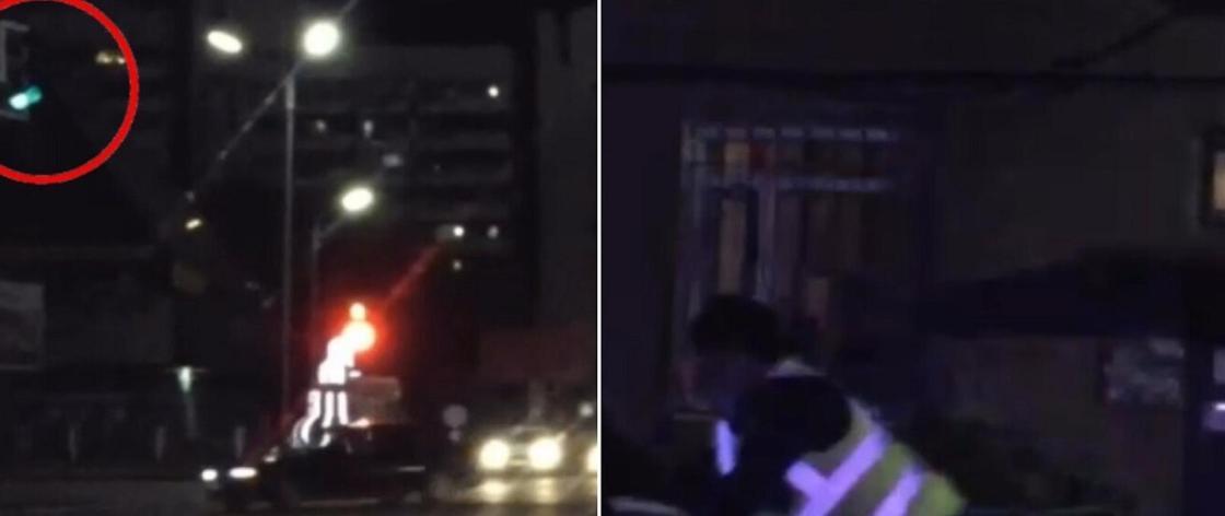 Пьяный водитель устроил погоню в Караганде (видео)