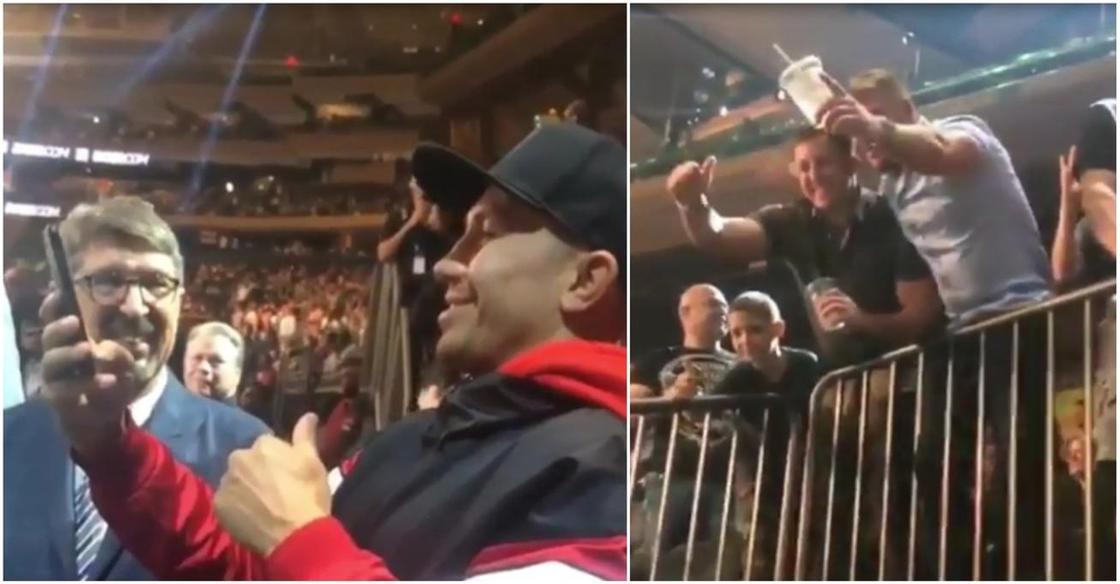 Головкинмен селфи жасамақ боған табынушылары, боксшыға смартфон лақтырды (видео)