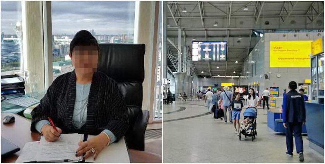 СМИ: Топ-менеджер крупной компании устроила пьяный дебош в аэропорту Алматы (видео)