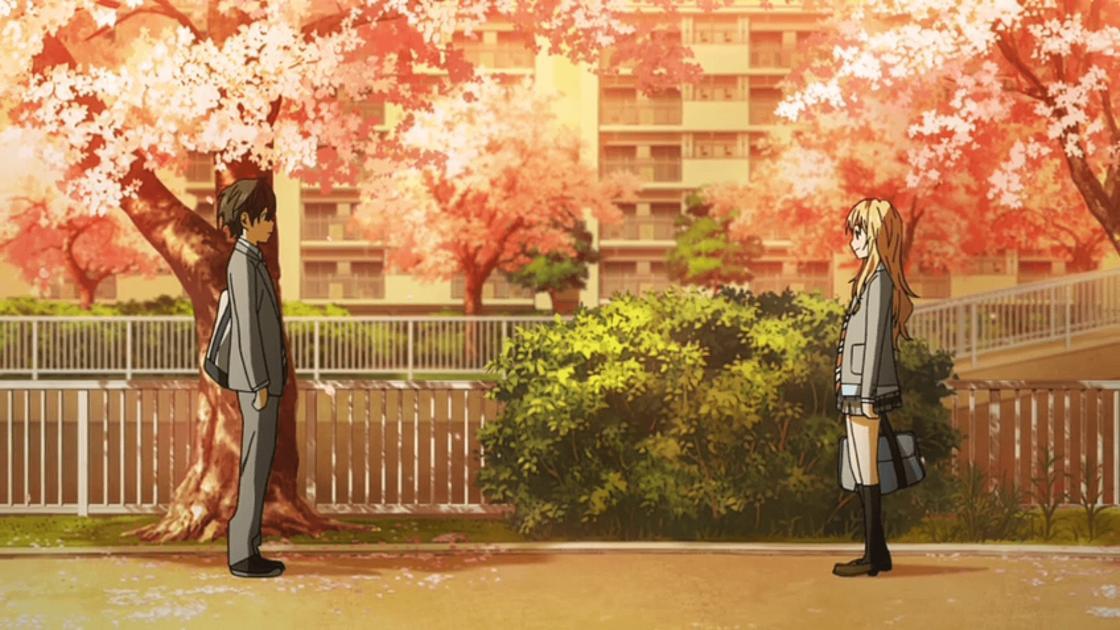 Кадр из аниме «Твоя апрельская ложь»