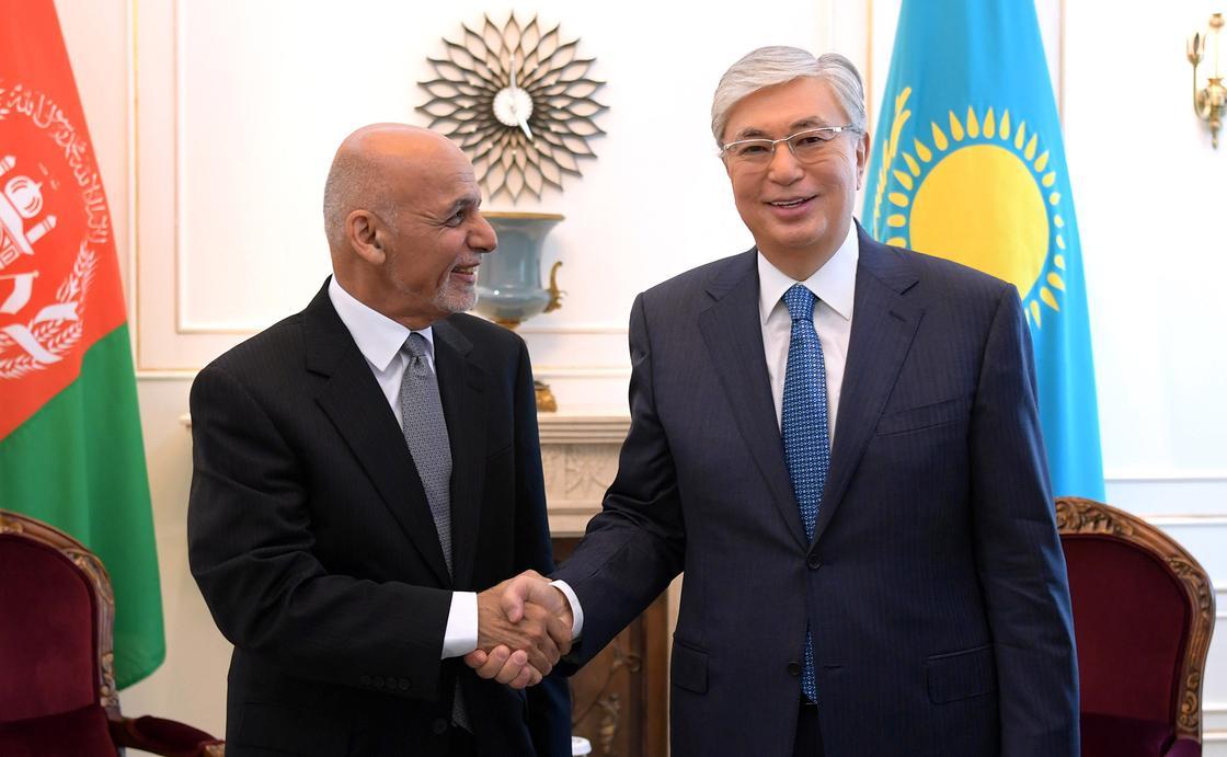 Касым-Жомарт Токаев встретился с Президентом Афганистана Мохаммадом Ашрафом Гани