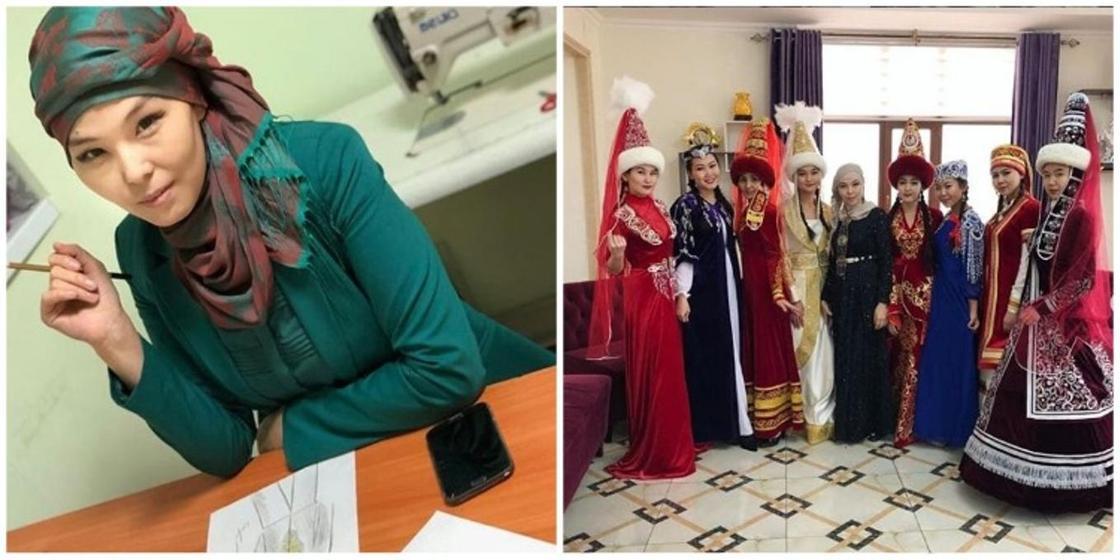 """""""Мне никто не поверил"""": Казахстанка сшила свадебное платье и саукеле своими руками"""