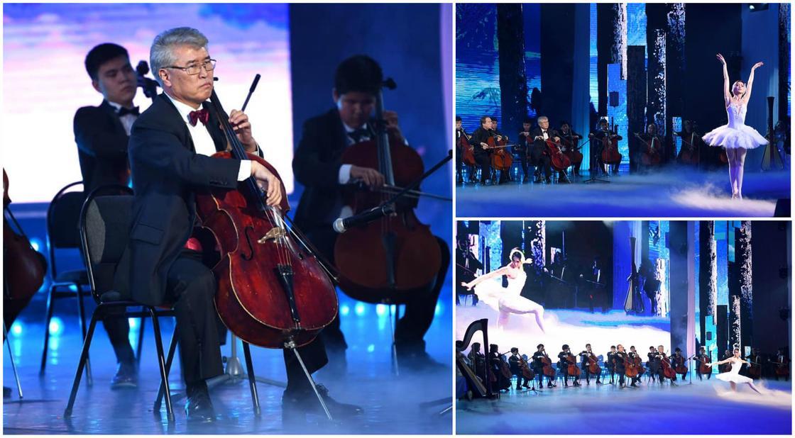 Министр культуры Мухамедиулы сыграл на виолончели перед президентами (фото, видео)