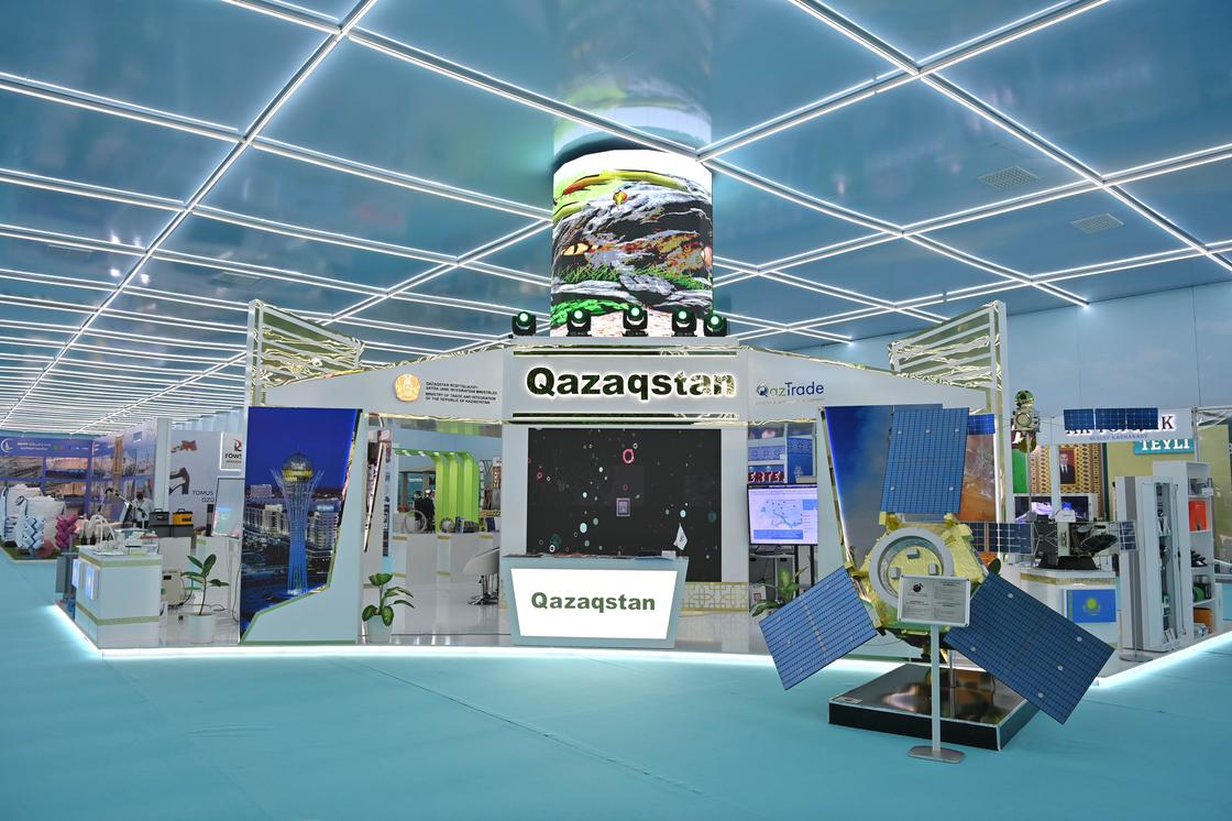 Казахстанские экспонаты на выставке национальных товаров стран Центральной Азии