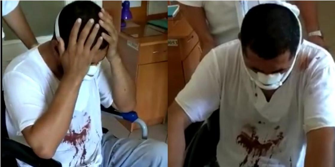 В Туркестанской области хулиганы проникли в дом имама и избили его на глазах детей