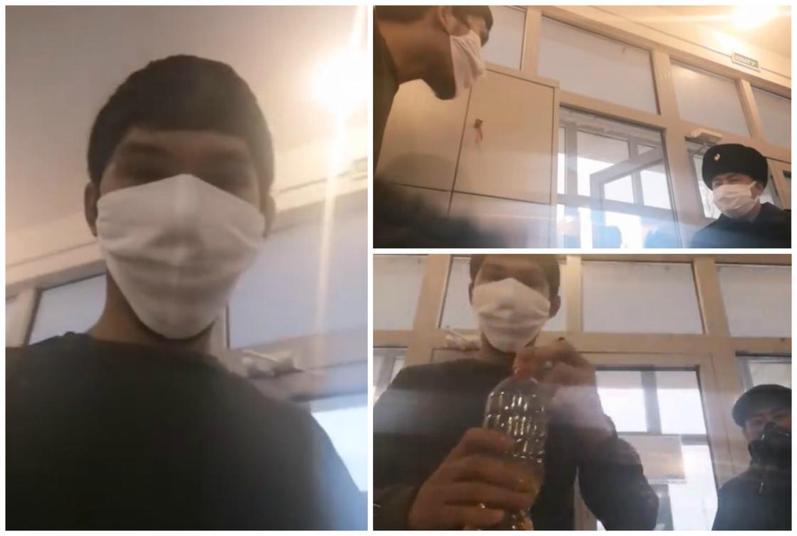 Парень угрожал поджечь себя в здании акимата Жанаозена (видео)
