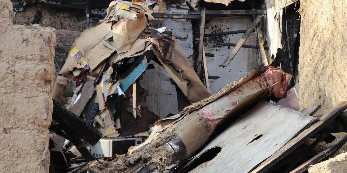 8-летняя девочка едва не погибла в пожаре в Караганде