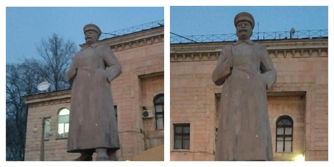 Памятник Иосифу Сталину появился в Алматы (фото)