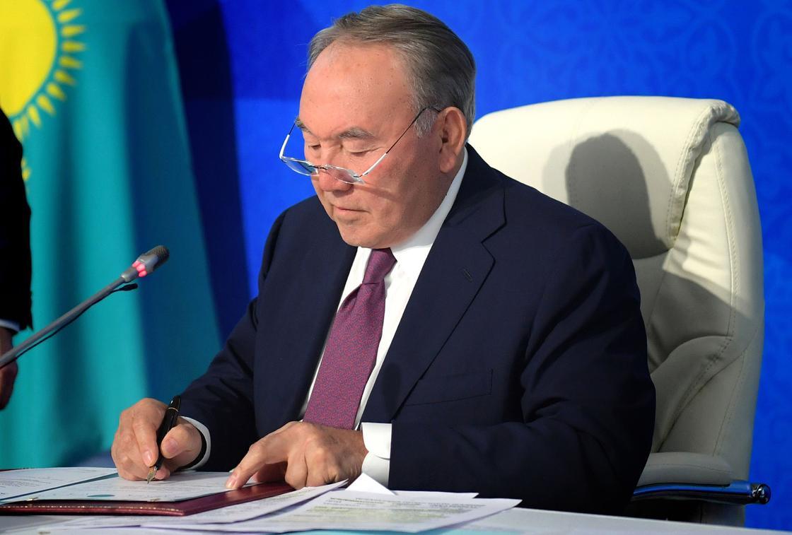 Назарбаев подписал ряд законов