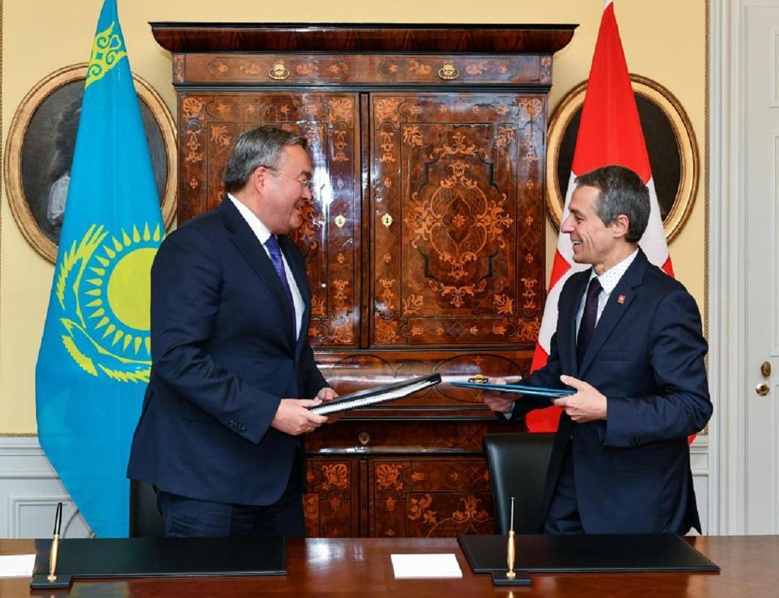 Начался официальный визит министра иностранных дел Казахстана в Швейцарию