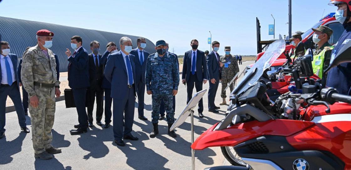 Касым-Жомарт Токаев посетил учения «Кайсар-2021»