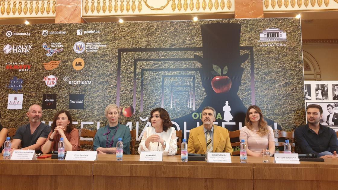 """Пресс-конференция перед показом оперы """"Евгений Онегин"""". Фото: NUR.KZ"""