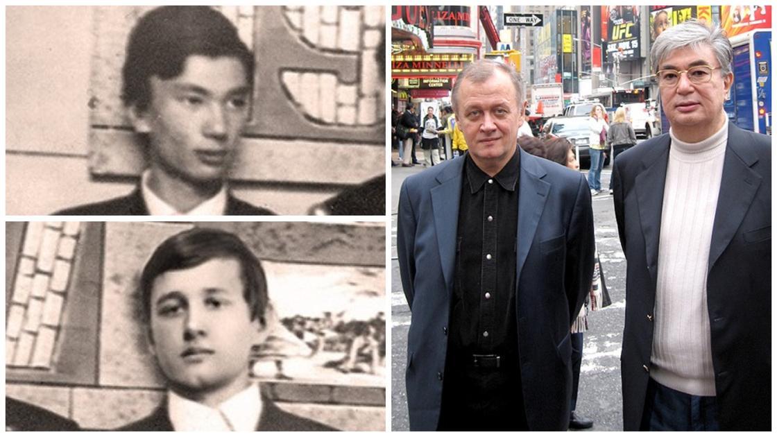 Қасым-Жомарт Тоқаев (жоғарыда), Андрей Антоненко (төменде), 1970 жыл. Қазақстандық дипломаттар нью-йорктік Бродвейде, 2008 жыл. БҰҰ бас Ассамблеясы сессиясынан кейін. Фото: kp.kz