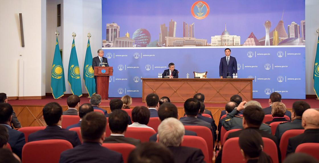 Токаев объяснил назначение нового акима Нур-Султана