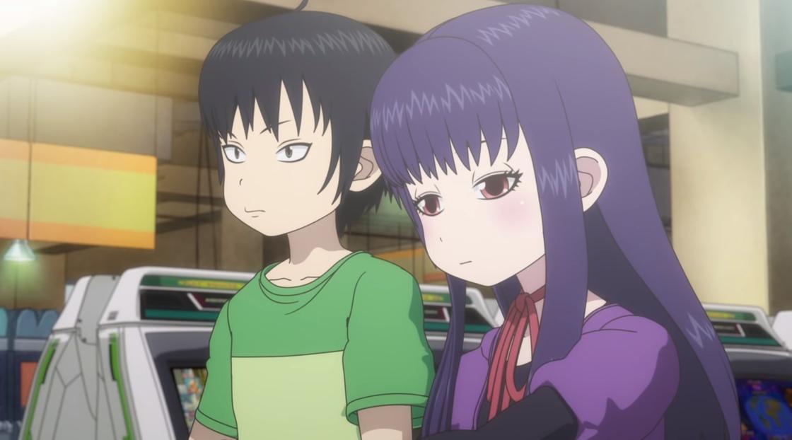 Кадр из аниме «Девчонка не промах»
