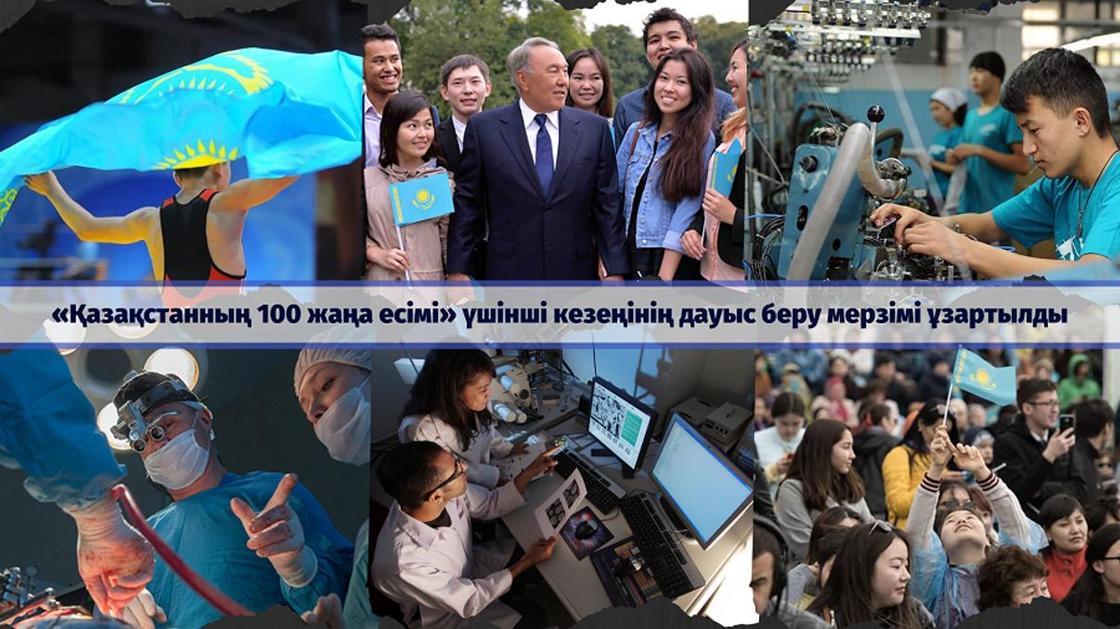 «Қазақстанның 100 жаңа есімі» жобасы бойынша бүкілхалықтық дауыс беру мерзімі ұзартылды