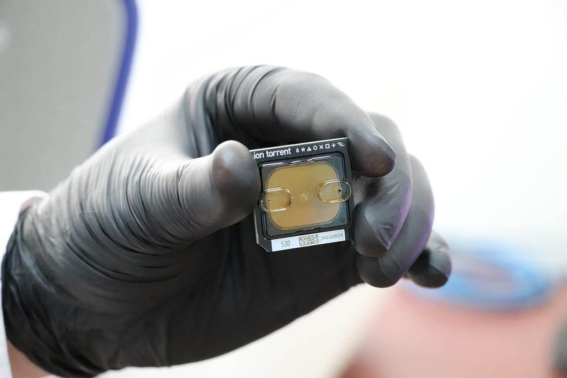 Чип для определения генома вируса