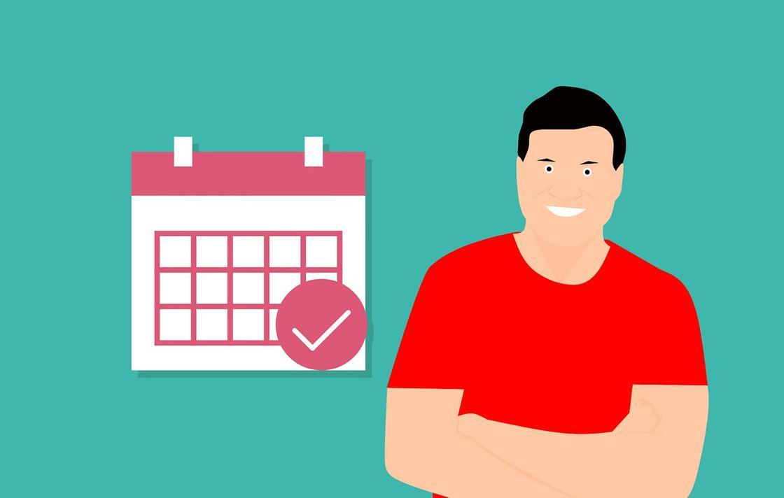Мужчина, календарь