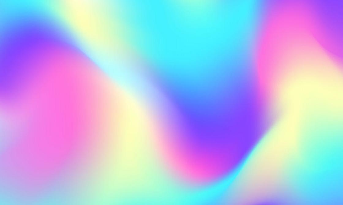 Размытые цвета: розовый, голубой, желтый, фиолетовый