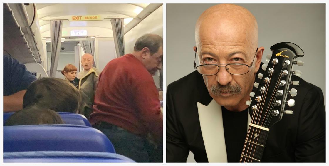 Александр Розенбаум спас пассажирку самолета (фото)