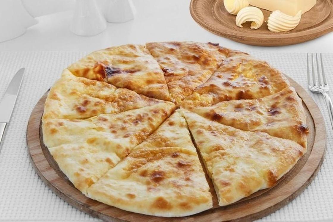 Хачапури с творогом и сыром на кефире