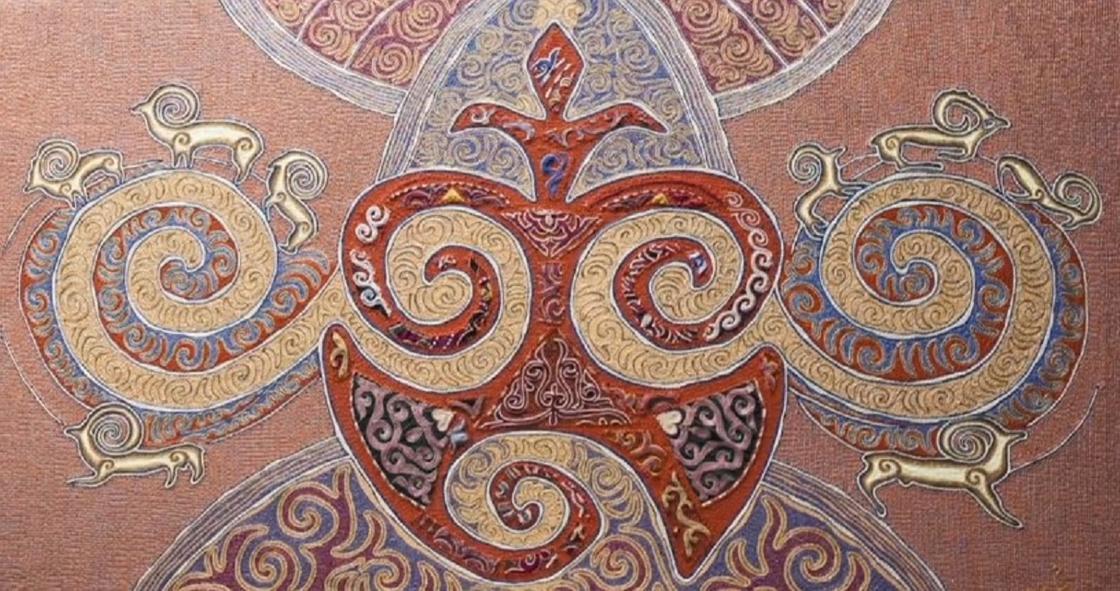 Вышитая картина Зейнелхана Мухамеджана