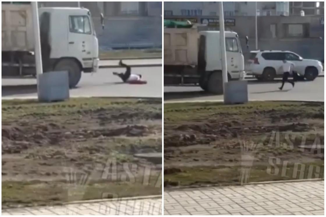 Пьяный астанчанин кидался под машины в карантинном Нур-Султане (видео)