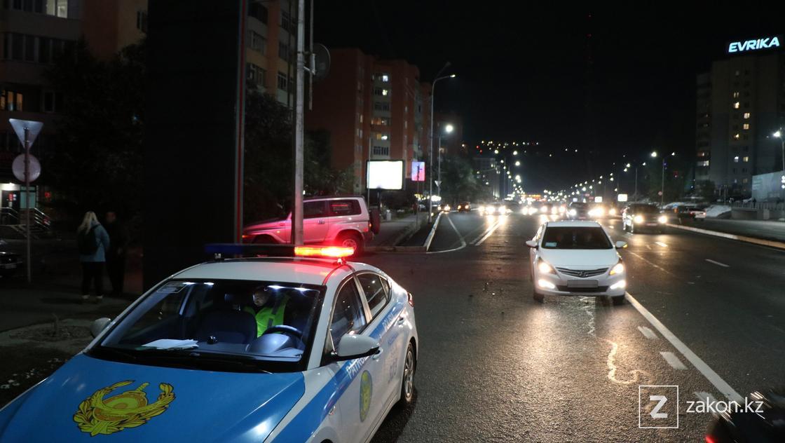 Место происшествия в Алматы