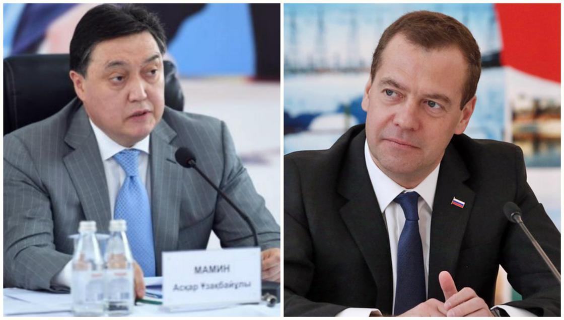 Медведев поздравил Мамина с назначением на пост премьера