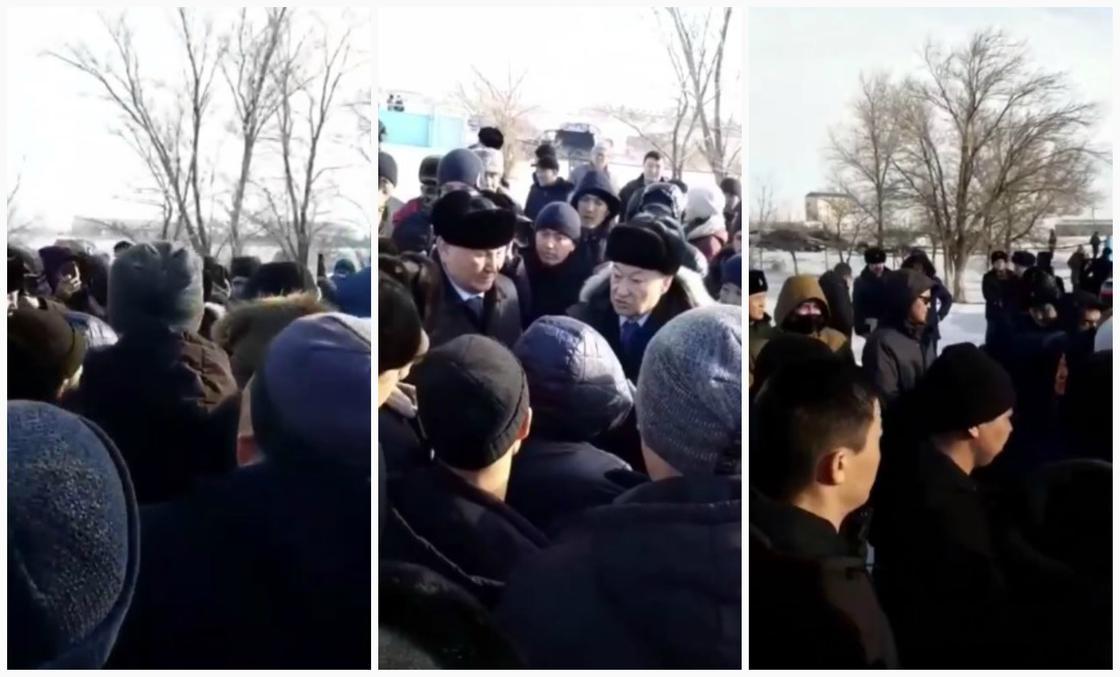 Даниал Ахметов срочно вылетел в Зайсан успокаивать местных жителей (видео)
