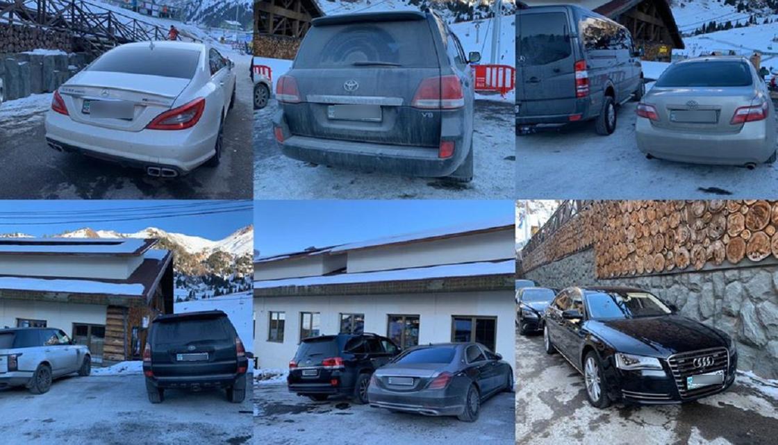 Алматинец возмутился скоплением частных авто на Шымбулаке (фото, видео)