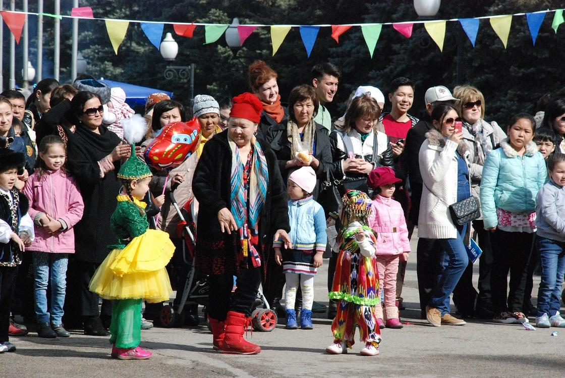 Казахстанцы на празднике